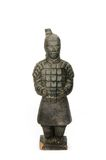 Sculpture of a chinese soldier - isolated Stock Photography