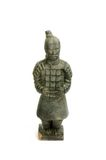 Sculpture of a chinese soldier - isolated Royalty Free Stock Image