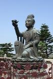 Sculpture chinoise en dame Photographie stock libre de droits