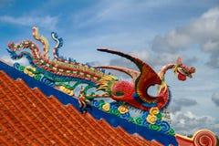 Sculpture chinoise en oiseau de mer en fonction Photos libres de droits