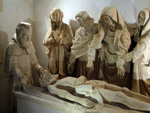 Sculpture of Christ's Entombment Royalty Free Stock Photos