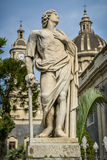 Sculpture and church of catania sicily Royalty Free Stock Photos