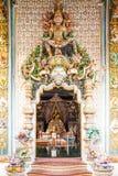Sculpture at church doors located in Pariwat temple. Bangkok Thailand Stock Photography