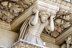 Sculpture at the Church of the Holy Cross facade, Lecce Royalty Free Stock Photos