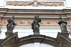 Sculpture of church of St. Ignatius Stock Photos