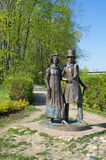 The sculpture Citizens in Dmitrov, Russia Stock Photography
