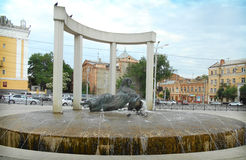 Sculpture in the city of Astrakhan, Russia Stock Photo