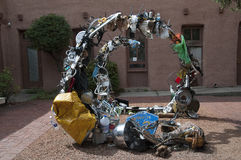 Sculpture in the City of Santa Fe In New Mexico Royalty Free Stock Photo
