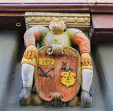 Tubingen, Baden-Wurttemberg, Germany. Sculpture and coat of arms in the historical center of Tubingen, Baden Wurttemberg, Germany Stock Photography