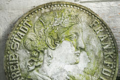 Sculpture coins Royalty Free Stock Photo