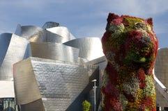 Sculpture colorée en chiot, Bilbao, pays Basque Images libres de droits