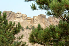 Sculpture commémorative nationale en mont Rushmore photographie stock libre de droits