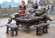 Sculpture composition in the center of Chongqing, China Stock Images