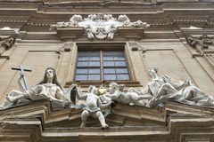 Sculpture composition on Court of Justice building in Florence Stock Image