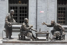 Sculpture composition representing life of chinese Royalty Free Stock Photo