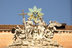 Sculpture composition in Venice, Italy Stock Photos