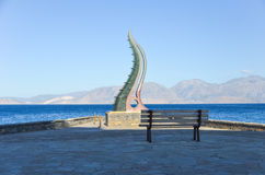 Sculpture Cornucopia on the shore of the island of Crete Stock Images