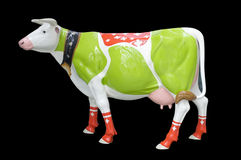 Sculpture of cow painted Stock Images