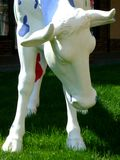 Sculpture of a cow Royalty Free Stock Photos