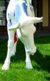 Sculpture of a cow Royalty Free Stock Photo