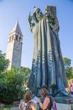 Sculpture croatian bishop Gregorius of Nin Stock Images