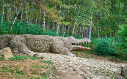 Sculpture Of Crocodile Royalty Free Stock Image