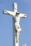Sculpture of Crossed Christ Stock Photos