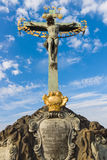 Sculpture (Crucifix and Calvary) Royalty Free Stock Images
