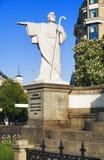 Sculpture d'apôtre Andrew à Kiev Photographie stock libre de droits