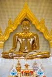Sculpture d'or en Bauddha images libres de droits