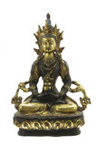 sculpture d'or en Bouddha Image stock