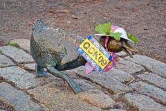 Sculpture d'hommage de canards à l'histoire de Robert McCloskeys  Photos libres de droits