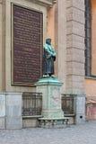Sculpture d'Olaus Pétri, un réformateur protestant suédois, à Stockholm photos stock