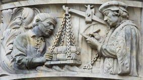 Sculpture d'un hall de ville nouvelle de Hannovre, Allemagne Image stock