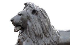 Sculpture d'un lion dans le grand dos de Trafalgar Images libres de droits