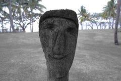 Sculpture d'un visage Photo stock
