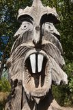 Sculpture d'une créature de mythologie faite de bois photographie stock