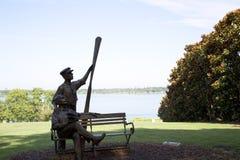 Sculpture in Dallas Arboretum TX Stock Photo