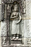 Sculpture dans Angkor Wat, Cambodge Photos stock