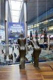 Sculpture dans l'aéroport de Copenhague Image libre de droits