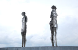 Sculpture dans l'amour Photographie stock libre de droits