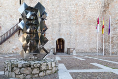 Sculpture dans la place de château Image stock