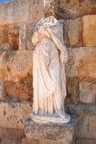 Sculpture dans le théâtre antique en salamis, Chypre Images stock
