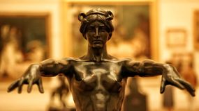 Sculpture dans un musée Image stock