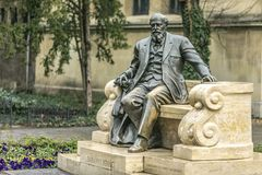 Sculpture of Daranyi Ignac. Sculpture of Hungarian politician Daranyi Ignac in Budapest stock photography