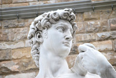 The sculpture of David Royalty Free Stock Images