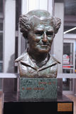 Sculpture of David Ben-Gurion at Ben Gurion International Airport, named in his honor Royalty Free Stock Image