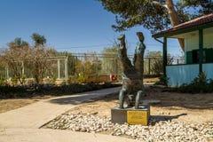 Sculpture of David Ben-Gurion standing on his head in kibbutz Sde Boker, Israel Stock Photography