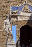 Sculpture of David by Michelangelo in Florence Royalty Free Stock Photos