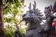 Sculpture de cheval d'équitation de Sudsakhon Ninmangkon appelé Sudsakhon photos libres de droits
